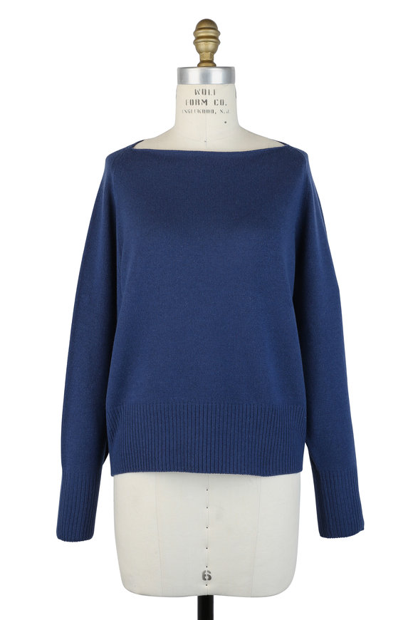 Vince Ink Cashmere Boat Neck Sweater