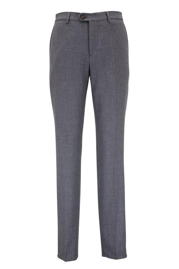Brunello Cucinelli Gray Wool Pant