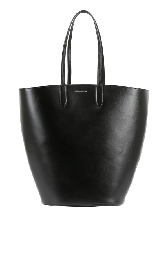 Alexander McQueen Black Leather Large Basket Tote