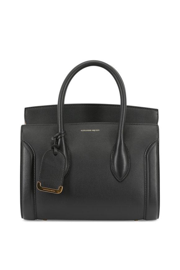 Alexander McQueen Heroine 30 Black Leather Small Shopper Bag