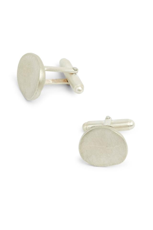 Sterling Silver Round Cuff Links