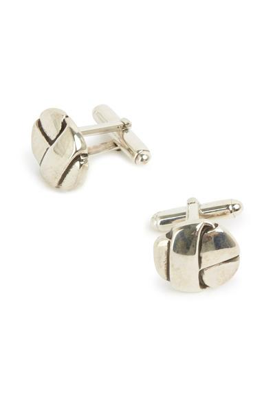 Catherine M. Zadeh - Sterling Silver Three Ribbon Cuff Links