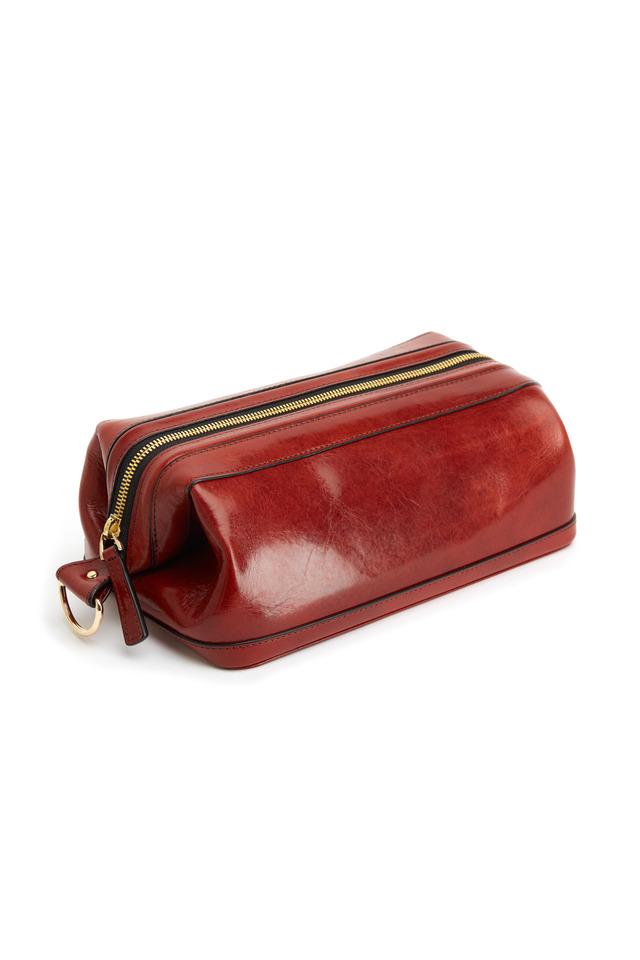 Cognac Leather Dopp Kit