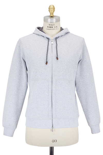 Brunello Cucinelli - Light Gray Cotton Spa Hoodie