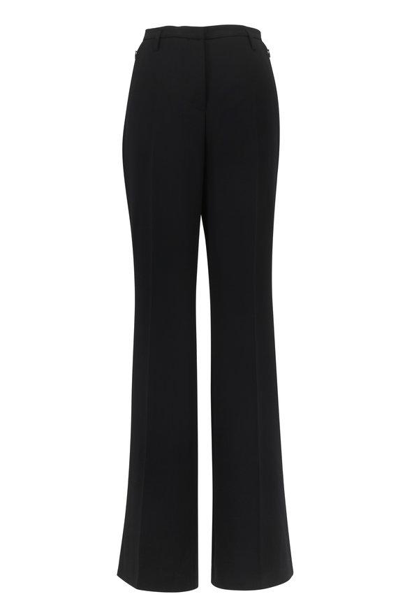 Akris Farrah Black Double-Faced Wool Pant