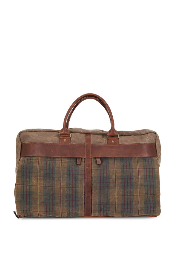 Moore & Giles Tinsley Waxwear Autumn Plaid Tri-Fold Carry-On Bag