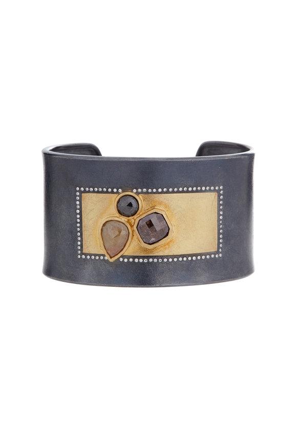 Todd Reed 18K Gold & Silver Fancy Diamond Cuff Bracelet