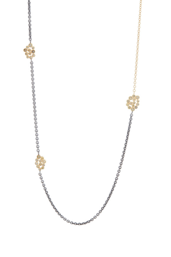 Todd Reed 18K Yellow Gold & Silver Cognac Diamond Necklace