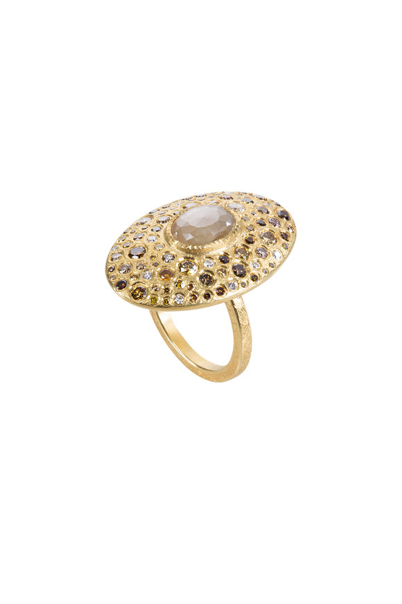 Todd Reed 18K Yellow Gold Diamond Oval Ring