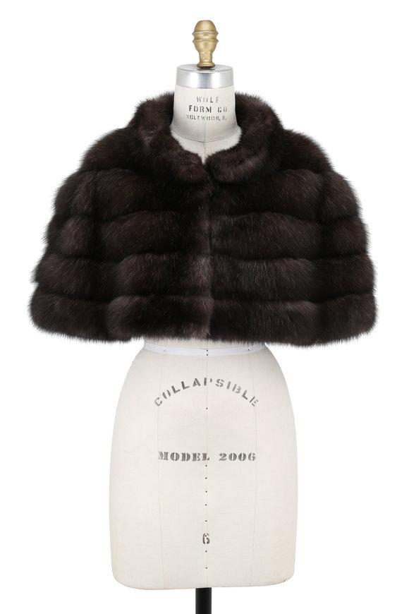 Oscar de la Renta Furs Natural Barguzine Sable Capelet