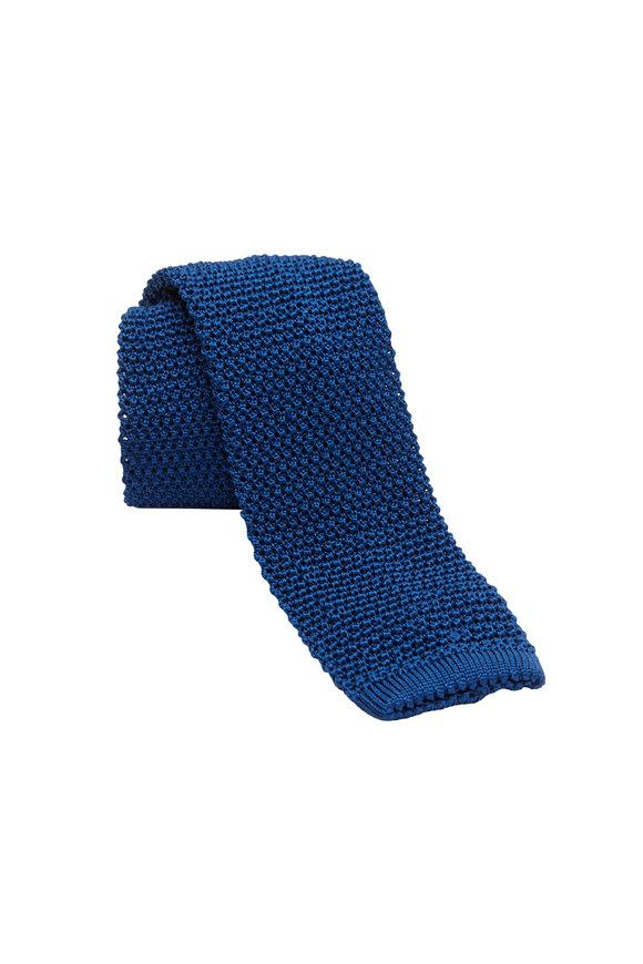 Charvet Midnight Blue Silk Knit Necktie