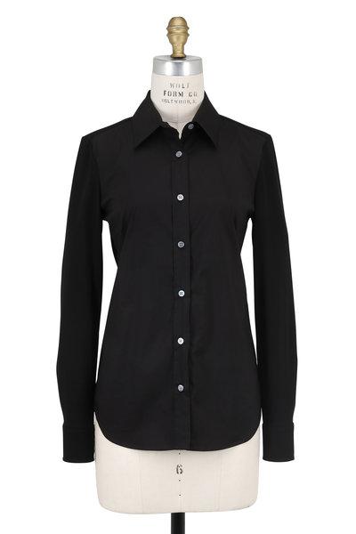 Derek Lam - Black Contrast Jersey Sleeve Blouse