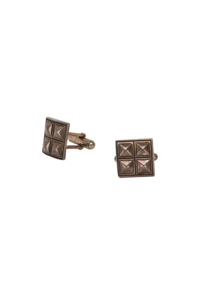 Catherine M. Zadeh - Sterling Silver Four Pyramids Cuff Links