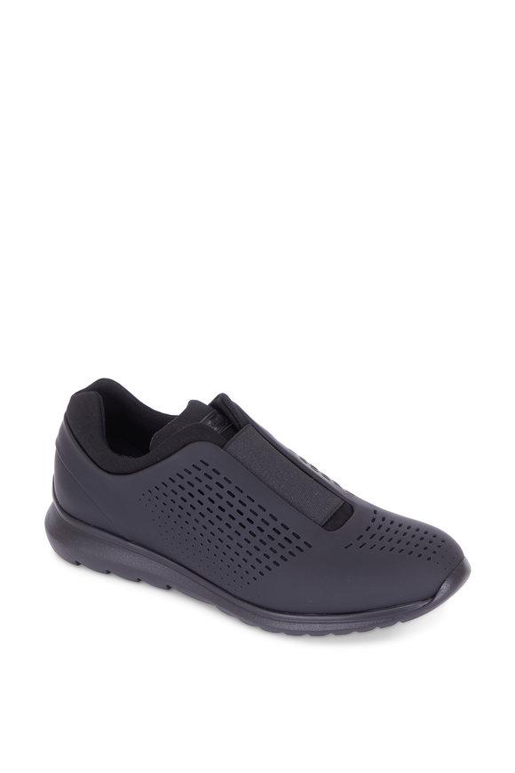 Ermenegildo Zegna Sprinter Blue Tech Leather Lace-Up Sneaker