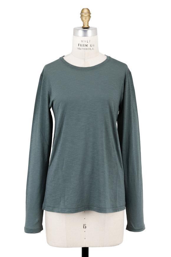 Vince Sea Foam Green Long Sleeve T-Shirt