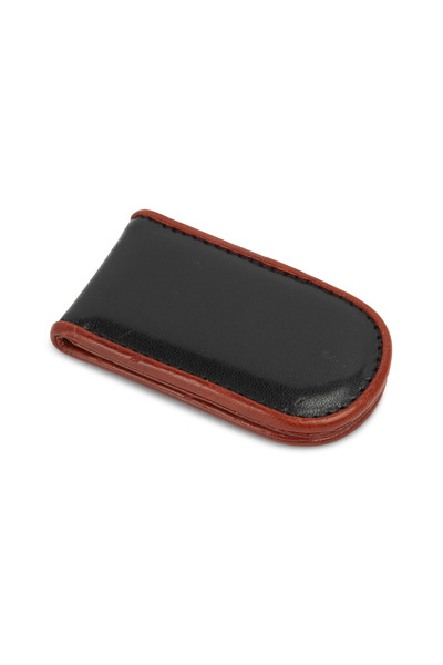 Bosca - Black & Brown Leather Money Clip