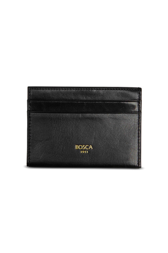 Bosca Black Leather Weekend Wallet