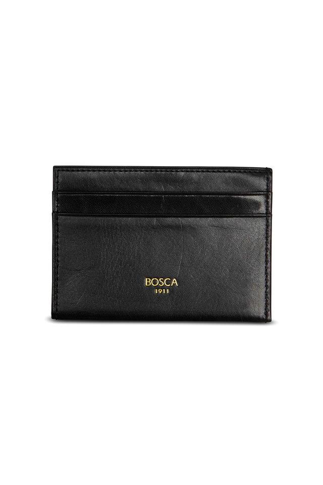 Black Leather Weekend Wallet