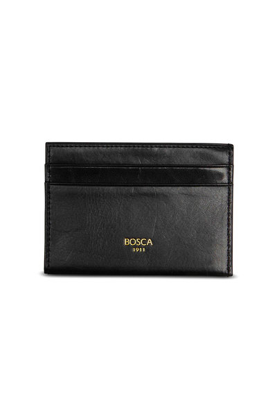 Bosca - Black Leather Weekend Wallet