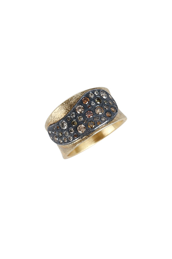 Todd Reed 18K Yellow Gold & Silver Autumn Diamond Ring