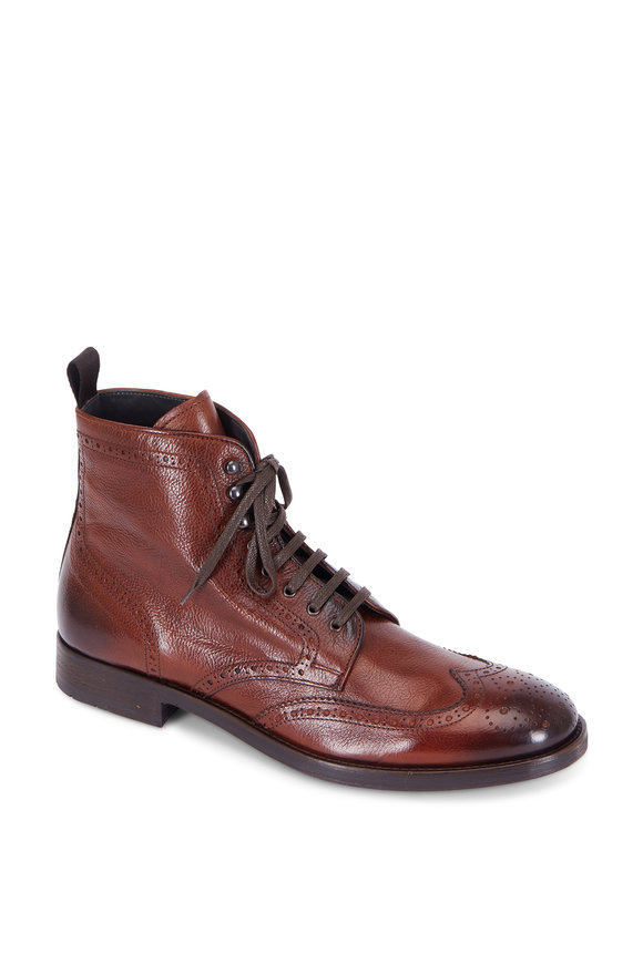 To Boot New York Bruckner Brown Leather Wingtip Boot