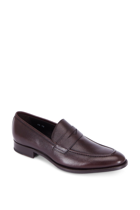 To Boot New York James Brown Leather Penny Loafer