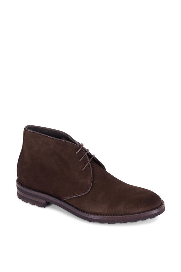 To Boot New York Phipps Dark Brown Suede Chukka Boot
