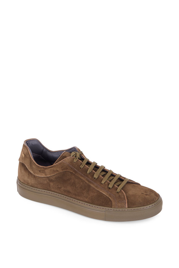 To Boot New York Marshall Olive Green Suede Sneaker