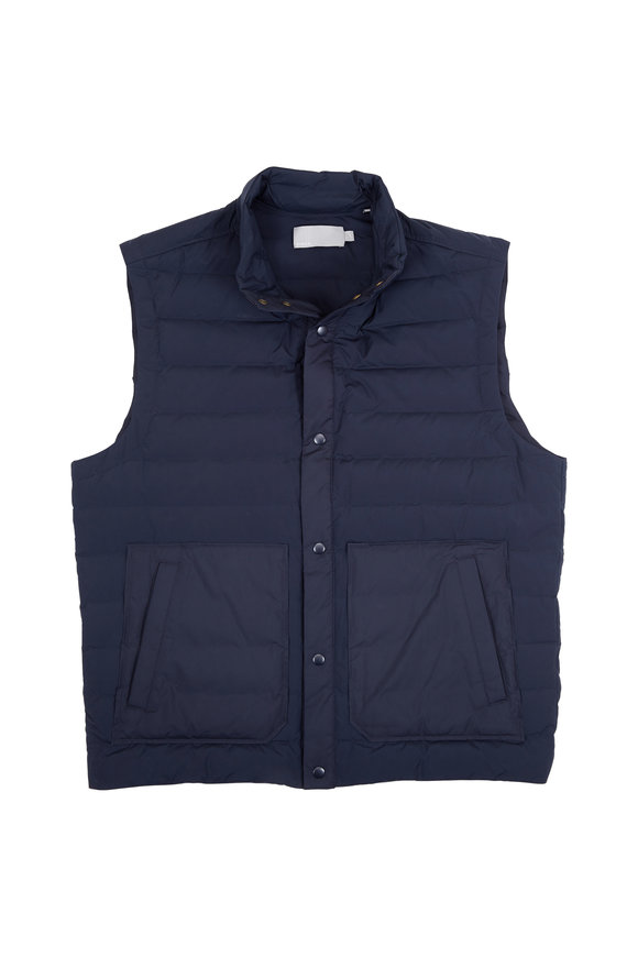 Vince Coastal Blue Quilted Vest