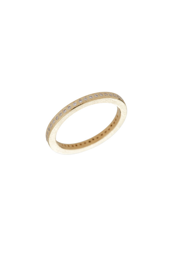 Todd Reed 18K Yellow Gold Diamond Band