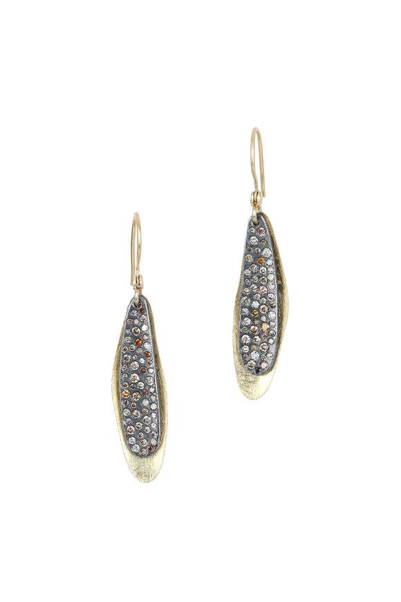 Todd Reed 18K Yellow Gold Autumn Diamond Drop Earrings