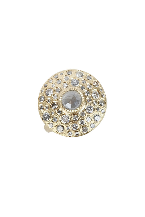 Todd Reed 18K Yellow Gold Diamond Dome Ring