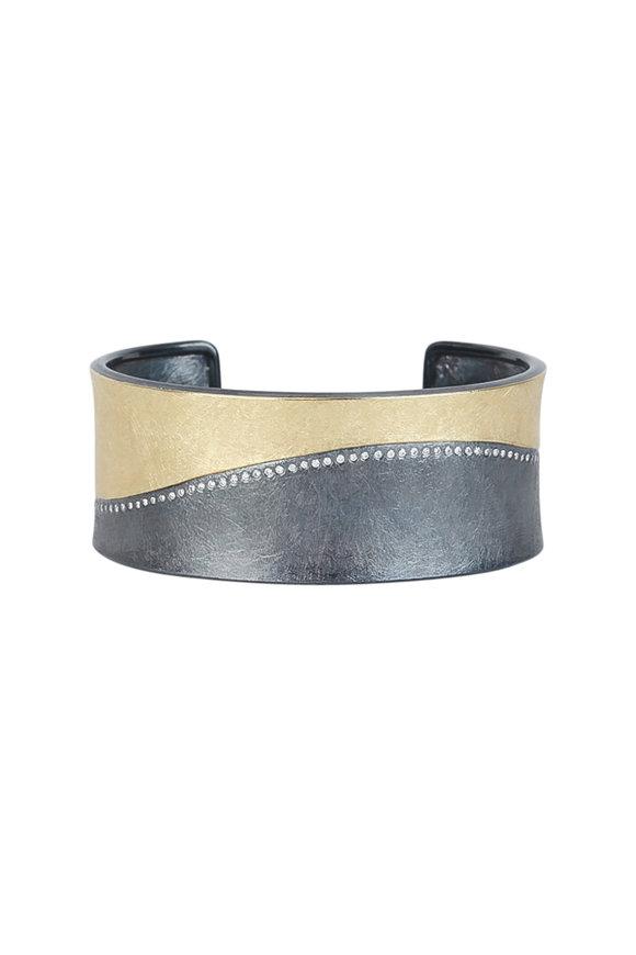 Todd Reed Rose Gold & Sterling Silver Swirl Cuff Bracelet