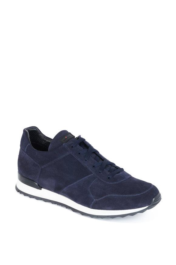 Kiton Faran Navy Blue Suede Sneaker