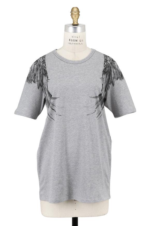 Alexander McQueen Charcoal Gray Eagle Print T-Shirt