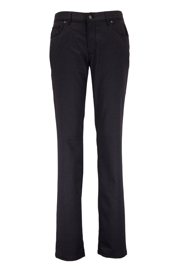 Hiltl Kent Charcoal Gray Stretch Wool Five Pocket Pant