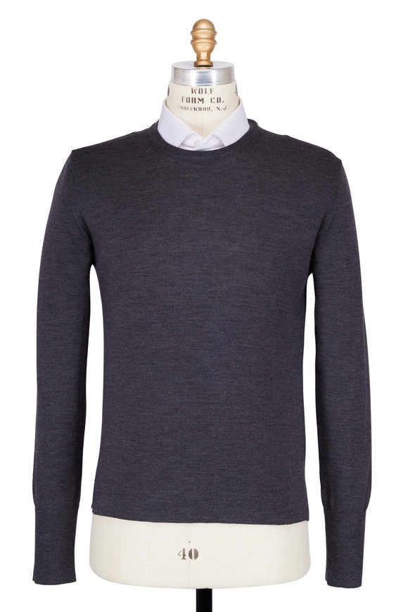 Officine Generale Nina Grey Merino Wool Sweater