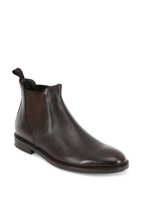 To Boot New York Hylan Dark Brown Leather Ankle Boot