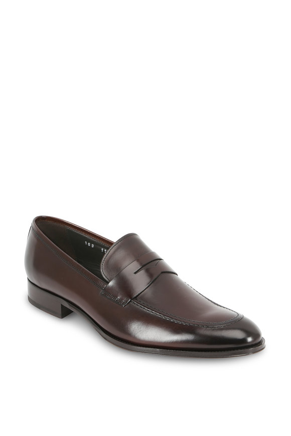 To Boot New York Alexander Dark Brown Leather Penny Loafer