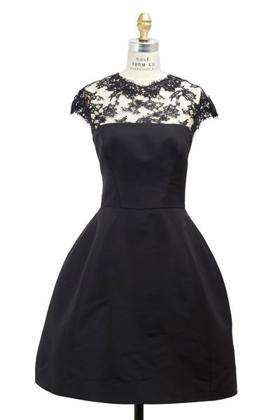 Monique Lhuillier - Black Faille Dress