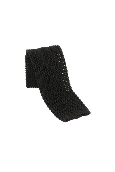 Charvet - Black Silk Knit Necktie