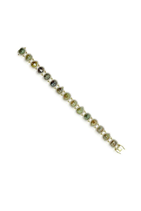 Sutra 18K Yellow Gold Rough Diamond Bracelet