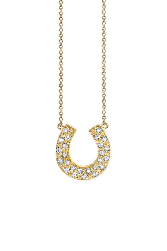 Sydney Evan Yellow Gold Horseshoe Necklace