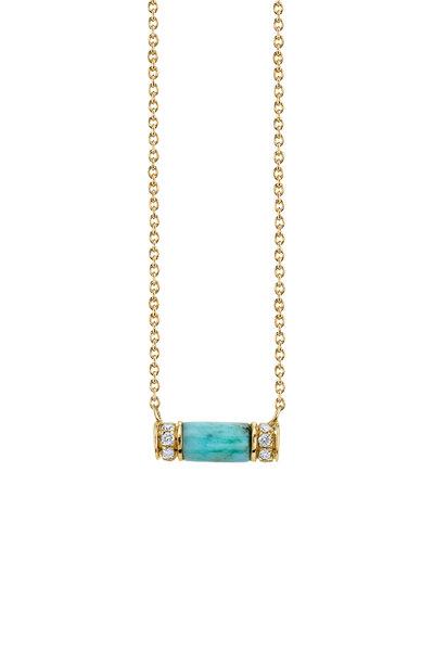 Sydney Evan - Yellow Gold Turquoise Necklace