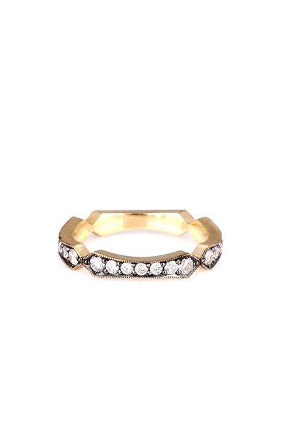 Sylva & Cie - 18K Yellow Gold Diamond Flapper Ring