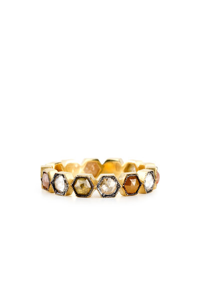 Sylva & Cie - 18K Yellow Gold Rough Diamond Ring