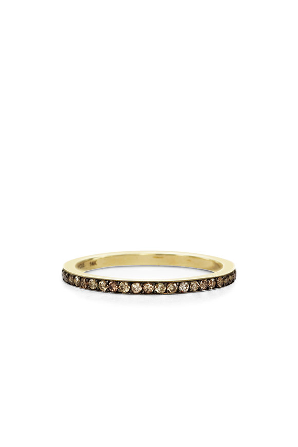 Sylva & Cie 14K Yellow Gold Champagne Diamond Rain Band