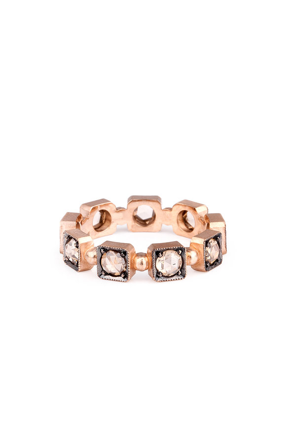 Sylva & Cie 14K Rose Gold Champagne Diamond Ring