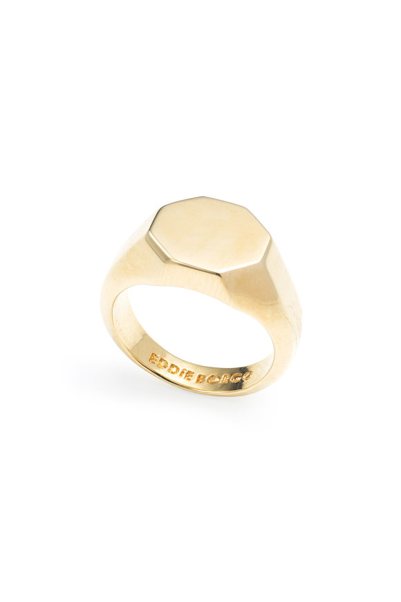 Eddie Borgo Yellow Gold Plated Brass Signet Ring
