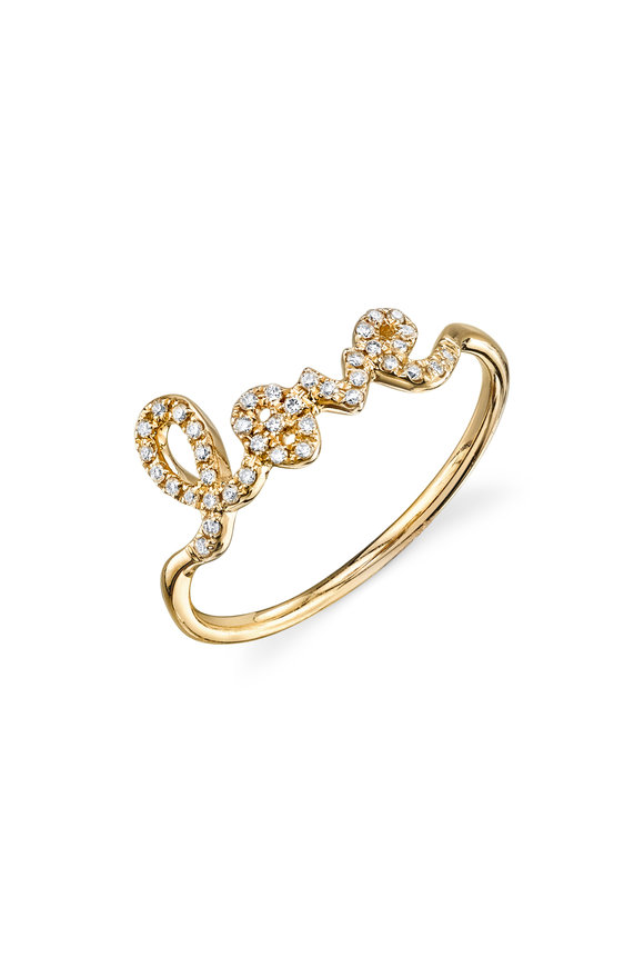 Sydney Evan Yellow Gold Love Ring